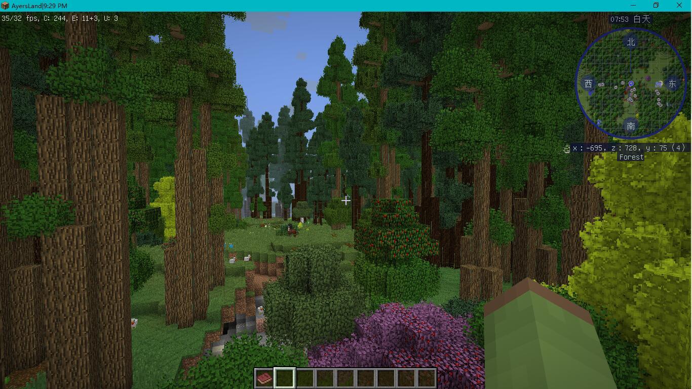在森林里面帧数变低了