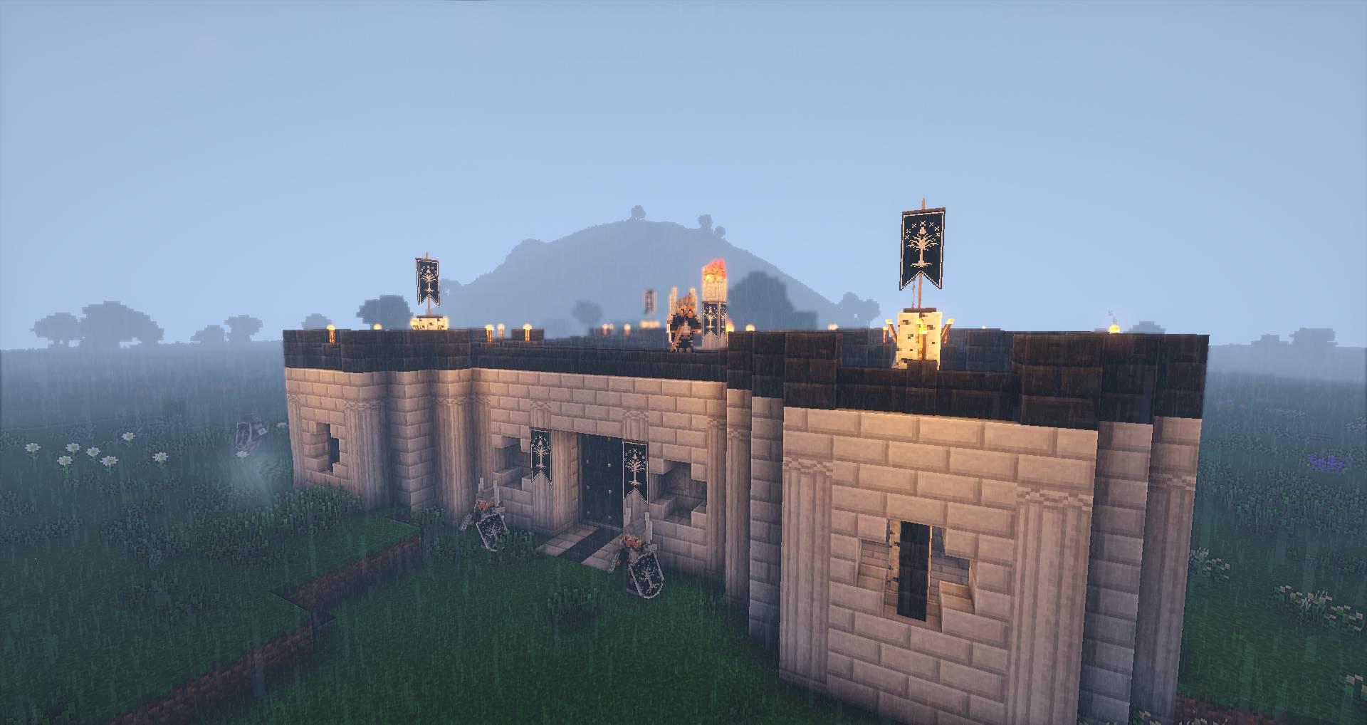 雨中的刚铎要塞