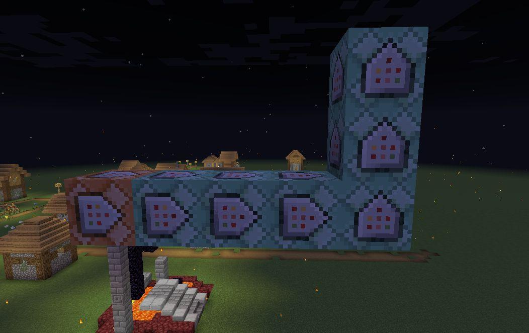 一排连锁型命令方块