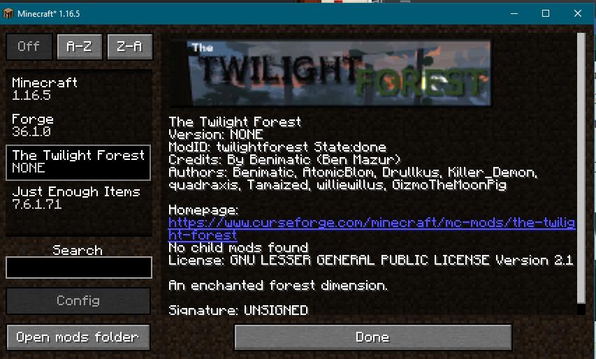 Twilight Mod Loaded