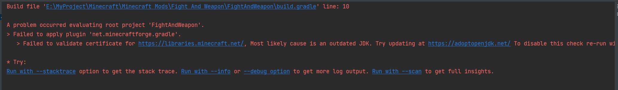 Failed to apply plugin 'net.minecraftforge.gradle'