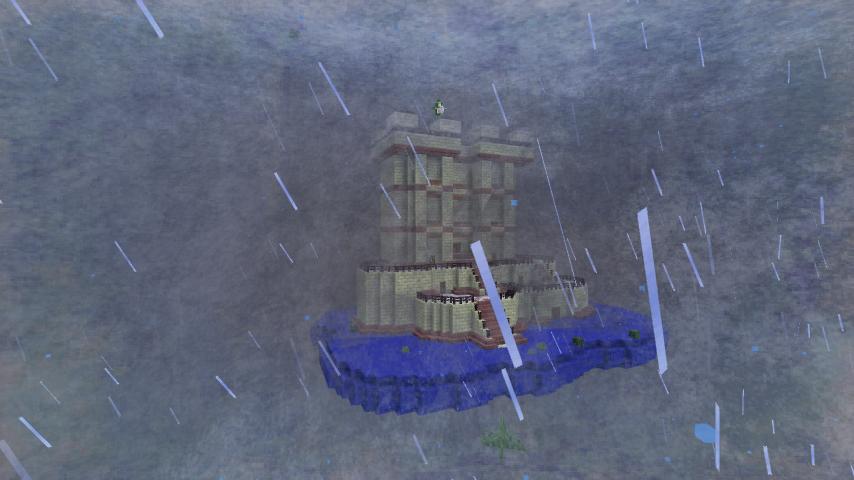 风雨中的空中建筑