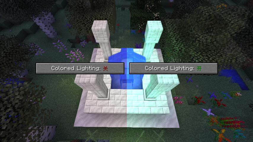 Colored Lighting开启前后对比